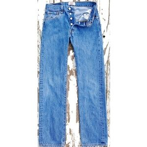 Levi's 501 Button Fly Jeans 28 x 32 GUC